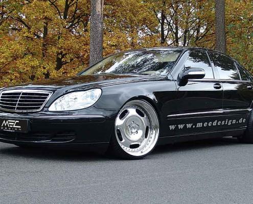 W220 V220 S-Klasse Mercedes Tuning AMG Bodykit Felgen Auspuff Spurverbreiterung Carbon