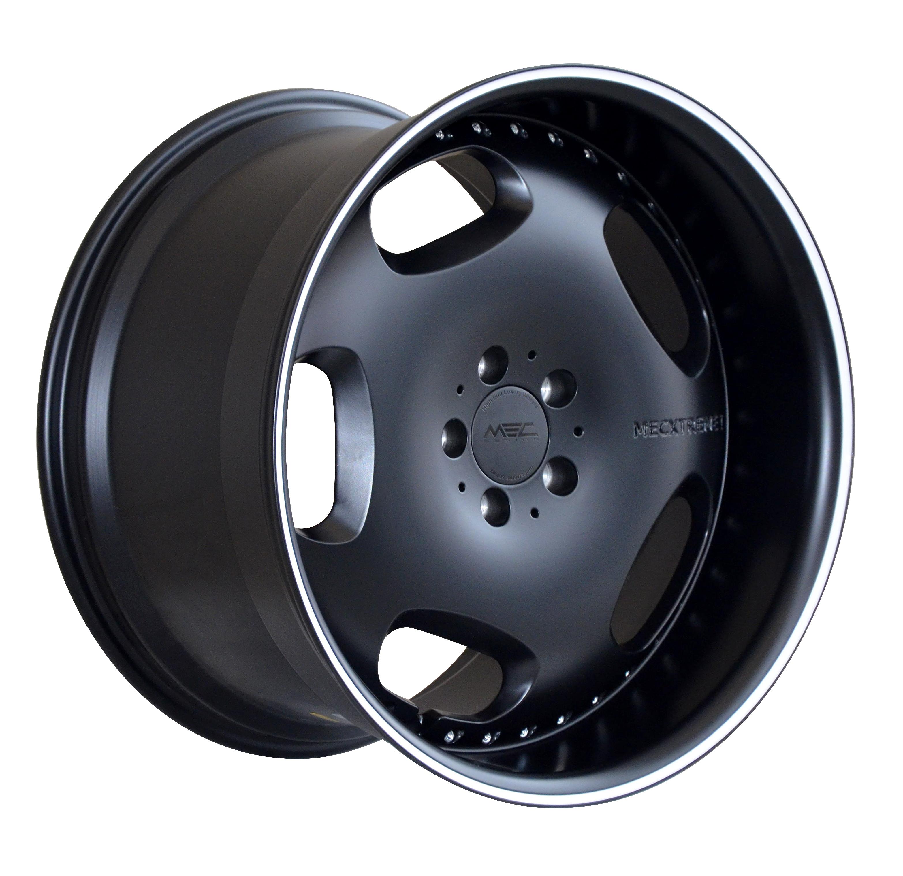 mecxtreme1 one piece wheel in Full Matt Black finish