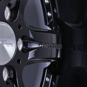 mecxtreme3 one piece wheel in Full Glossy Black without Stainless Steel Lip