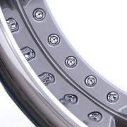 mecxtreme3 one piece wheel in Satin with Stainless Steel Lip