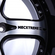 mecxtreme3 one piece wheel in Satin Double Black without Stainless Steel Lip