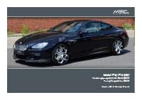BMW F12/F13 Pricelist