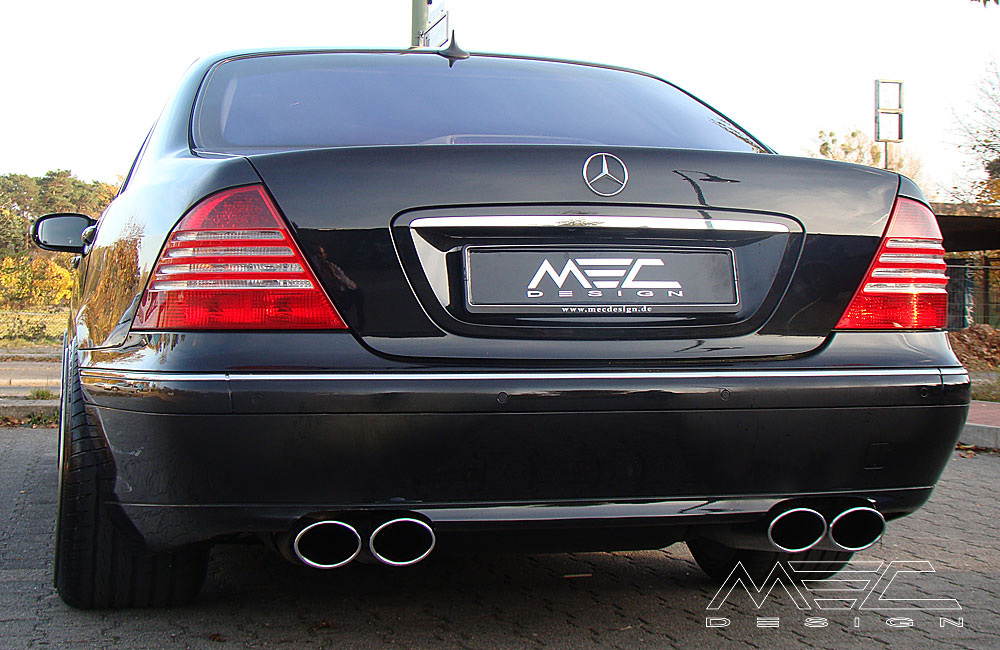 powerful exhaust systems for your mercedes benz w220. Black Bedroom Furniture Sets. Home Design Ideas