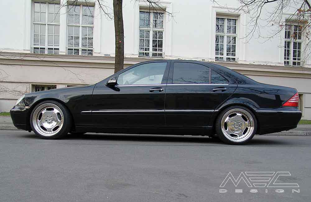 W220 V220 S Klasse Mercedes Tuning AMG Bodykit Felgen Auspuff Spurverbreiterung Carbon