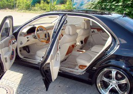 W220 V220 S-Class Mercedes Tuning AMG Interior Carbon Leather