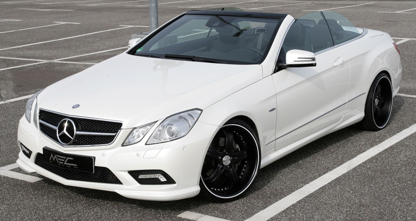E350CDI with mecxtremeIII 1pc. Wheel Full Matt Black Edition and Exhaust