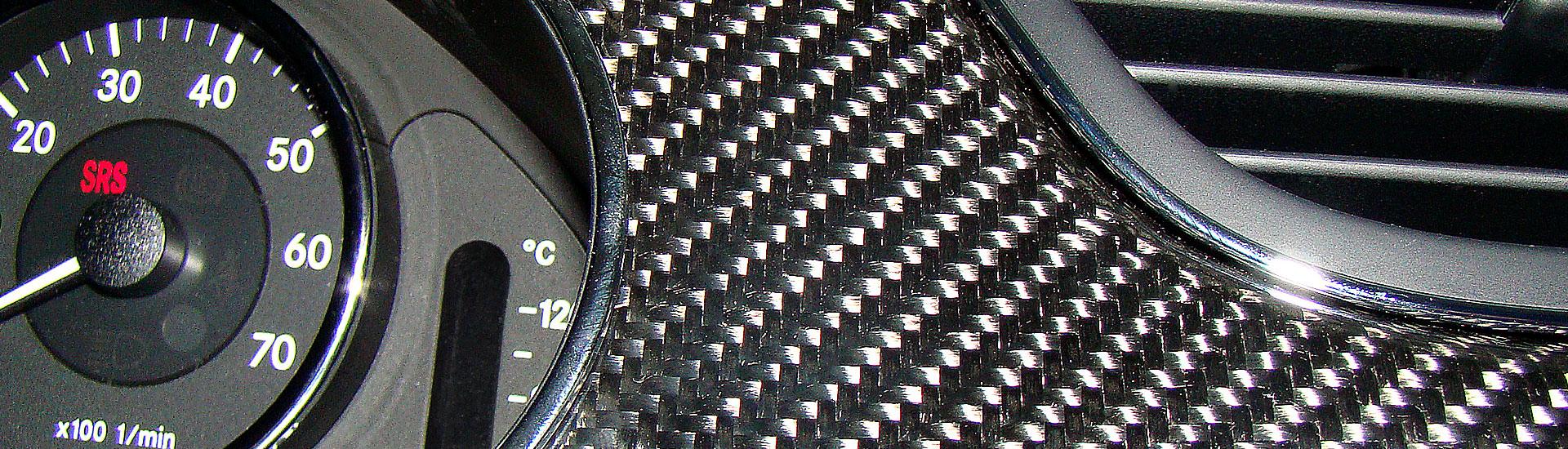R230 SL Roadster Mercedes Tuning AMG Interieur Carbon Leder