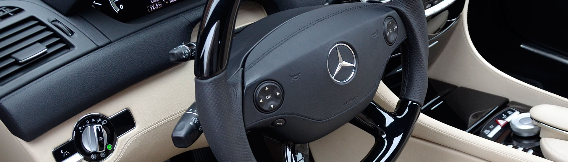C216 W216 CL Mercedes Tuning AMG Interior Carbon Leather