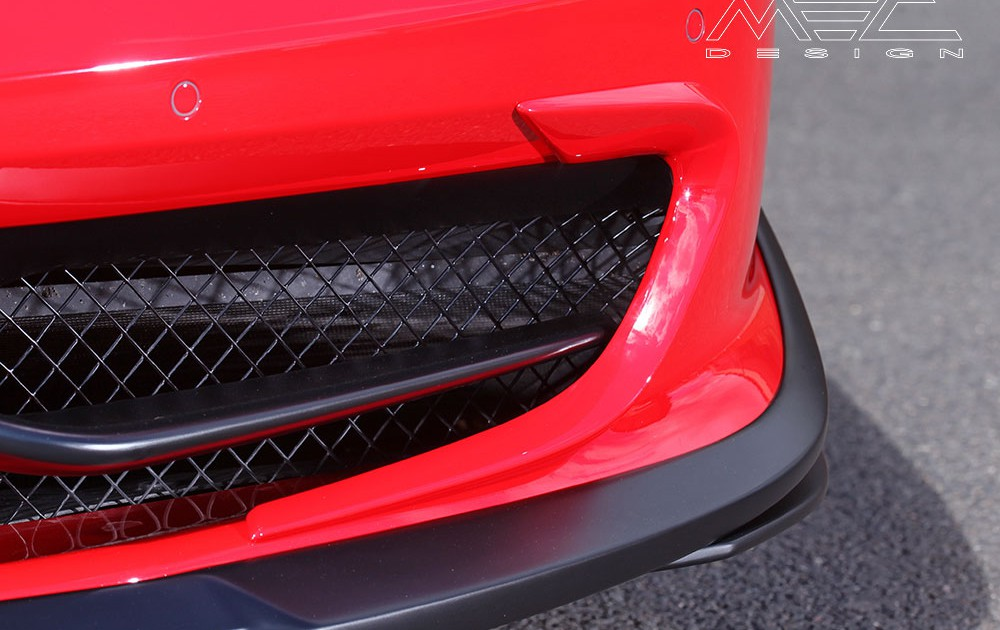 "MEC Design Ferrari 458 spoiler corners ""ears"" for front opening, set for the 458 Italia + Spider (not Speciale)"
