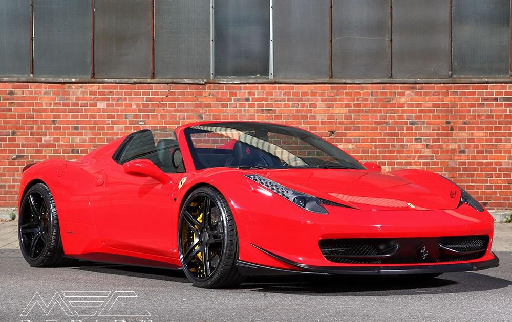 MEC Design Ferrari 458 front spoiler lip, 3 piece