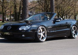 SL500 with one piece 9+10,5 with 245+285 spacers 30+25mm