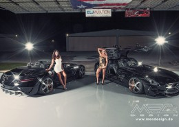 "Model Photoshooting - SLS Class mit ""GTSLS C197 Mercedes Tuning AMG Bodykit Felgen Auspuff Spurverbreiterung Carbon3"" Diffusor and Rear Spoiler in Carbon finish"
