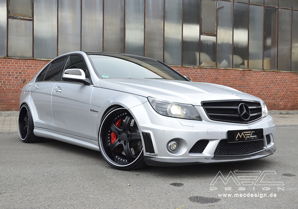c63 amg with mecxtreme3 1 piece wheels mec design. Black Bedroom Furniture Sets. Home Design Ideas