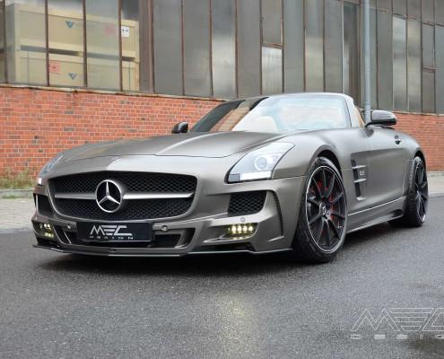 SLS R197 Mercedes Tuning AMG Bodykit Felgen Auspuff Spurverbreiterung Carbon