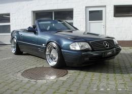 R129 SL Roadster Mercedes Tuning AMG Bodykit Felgen Auspuff Spurverbreiterung Carbon