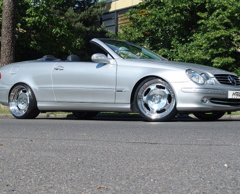 CLK320 with mecxtreme1 3 piece wheels