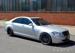 W221 V221 S-Klasse Mercedes Tuning AMG Bodykit Felgen Auspuff Spurverbreiterung Carbon