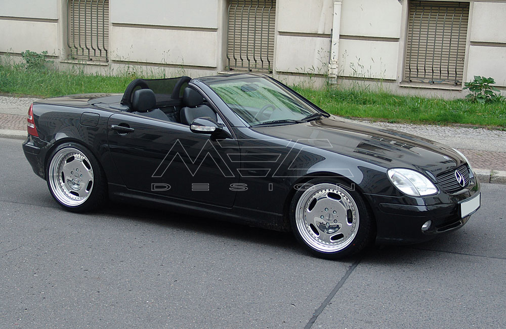 slk200 with mecxtreme1 3 piece wheels mec design. Black Bedroom Furniture Sets. Home Design Ideas