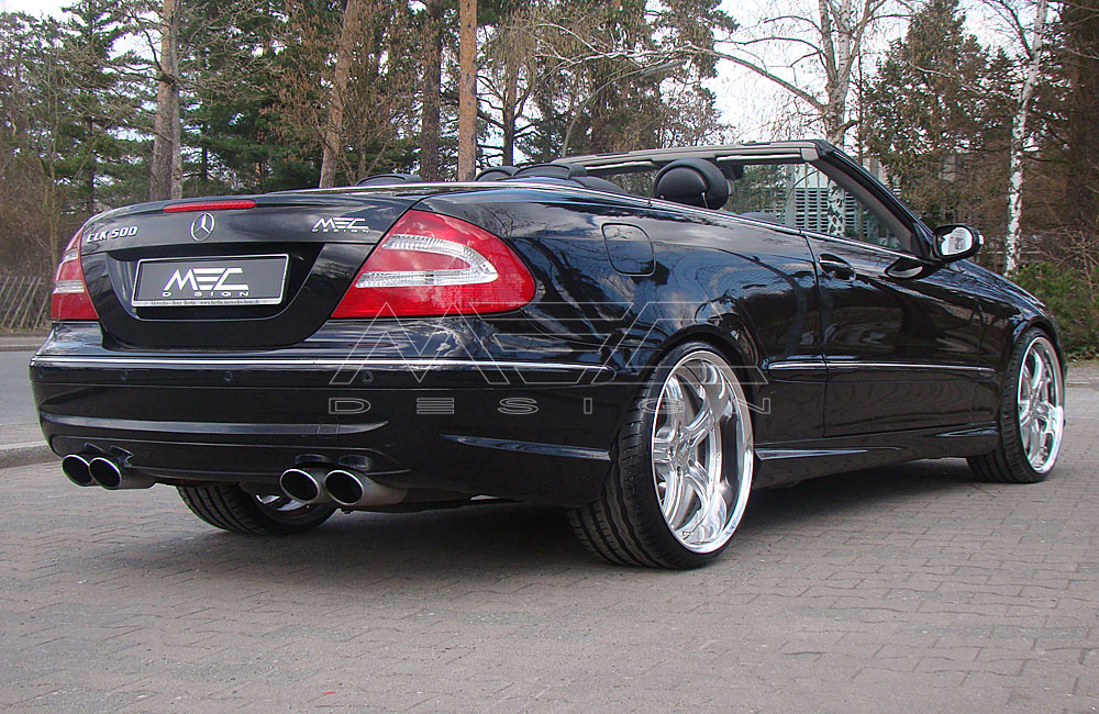 CLK500 with mecxtreme3 3 piece wheels - MEC Design
