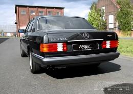 W126 SEL SEC Mercedes Tuning AMG Bodykit Felgen Auspuff Spurverbreiterung Carbon