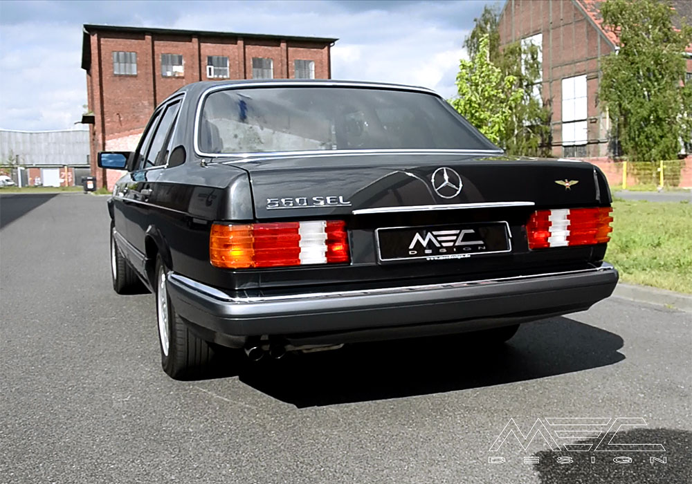 new exhaust for an old favourite w126 s class mec design