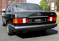 W126 SEL SEC Mercedes Tuning AMG Bodykit Wheels Exhaust Spacer Carbon