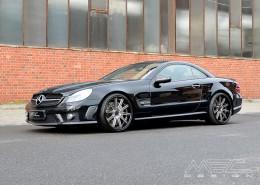 R230 SL Roadster Mercedes Tuning AMG Bodykit Felgen Auspuff Spurverbreiterung Carbon